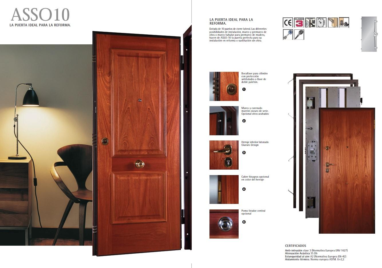 Puerta acorazada asso 10 dierre especial entrada a for Puerta entrada vivienda