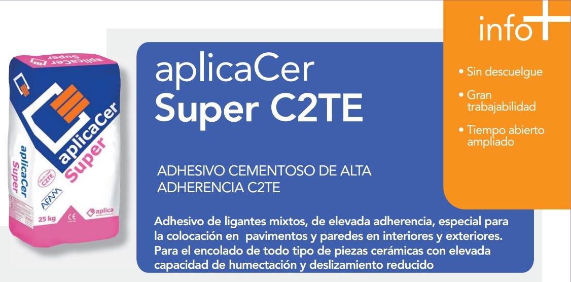 """Cemento Cola/Adhesivo cementoso de alta adherencia """"AplicaCer Super C2TE"""""""