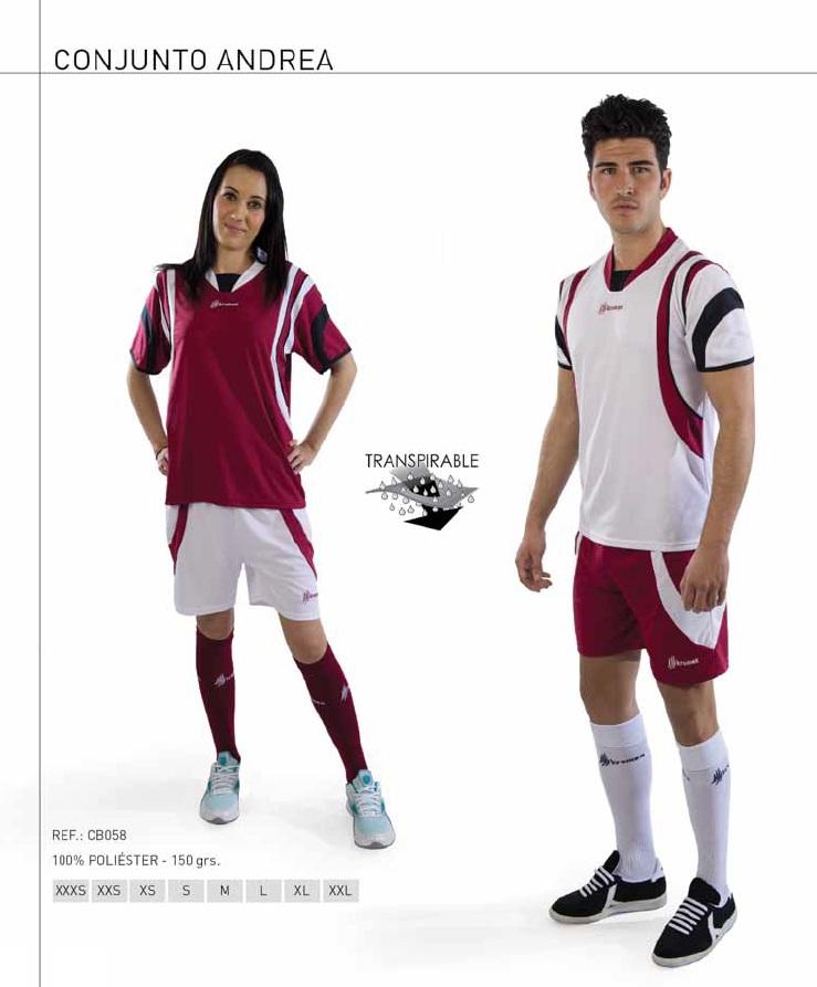 """Equipación deportiva modelo """"Andrea"""", (3 Colores), Marca Kromex"""