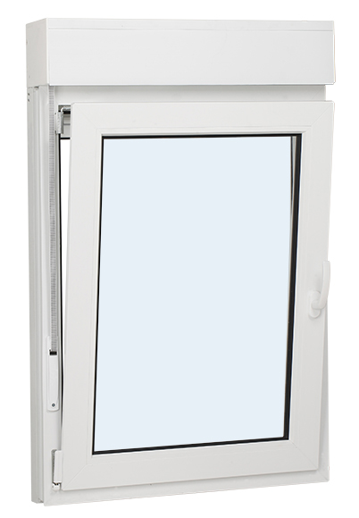 Ventana pvc k mmerling oscilo batiente con persiana 1 for Precio ventana pvc con persiana