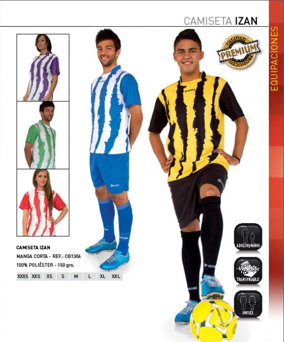 Camiseta deportiva Izan, Kromex, 100% poliester para futbol y otros deportes.