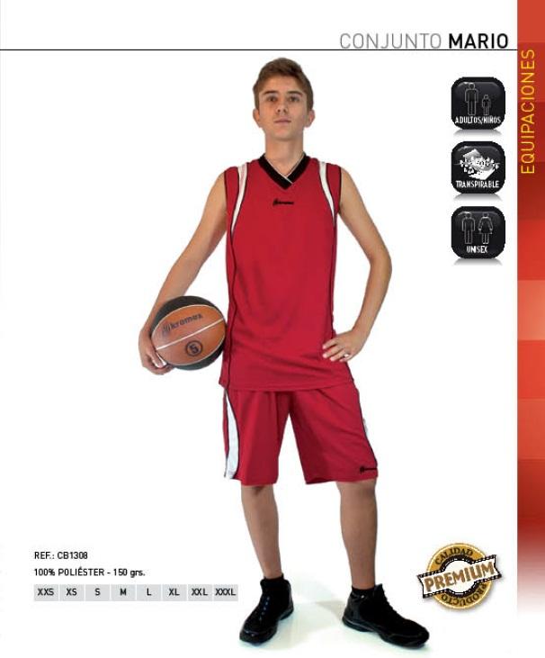 """Equipación deportiva modelo """"Mario"""", Kromex para baloncesto y otros deportes"""