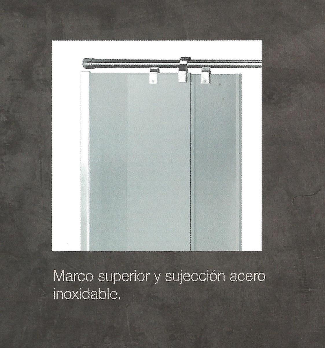 Mampara angular ducha mod sensacion 4 hojas inoxidable - Mampara vidrio templado ...