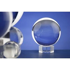 Bola cristal 11 cms peana cristal