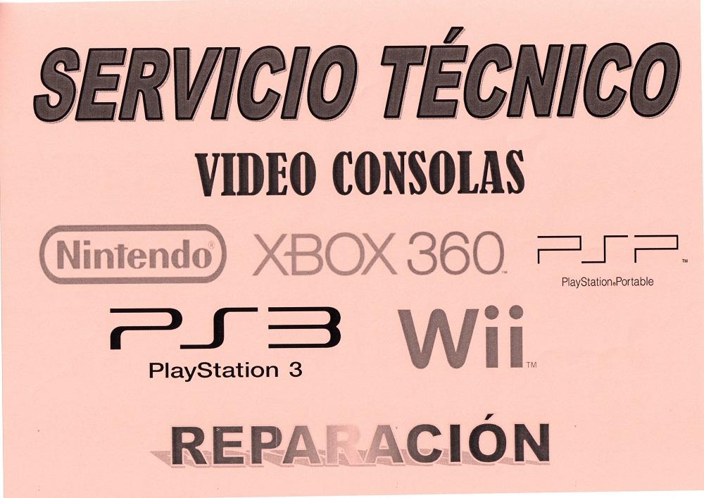 REPARACION Y SERVICIO TECNICO DE CONSOLAS