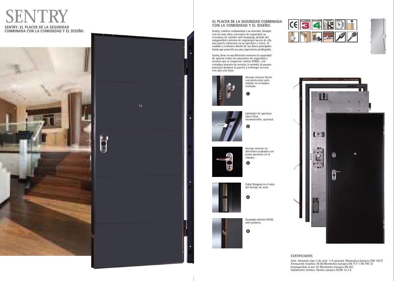 Puerta Acorazada SENTRY 1 (Dierre) - Especial entrada a vivienda.