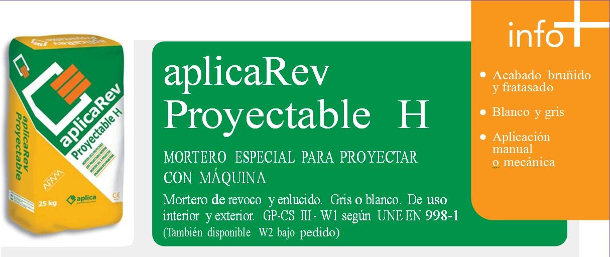 Mortero Especial para Proyectar con máquina, aplicaRev Proyectable H