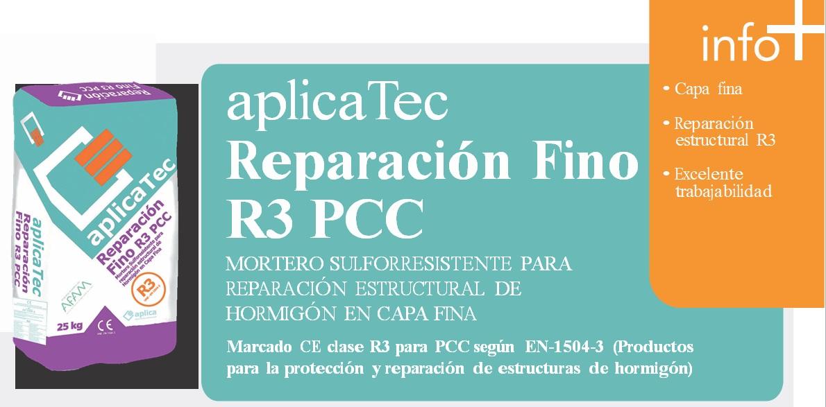 Mortero Sulforresistente aplicaTec reparación estructural hormigon C.Fina R3 PCC