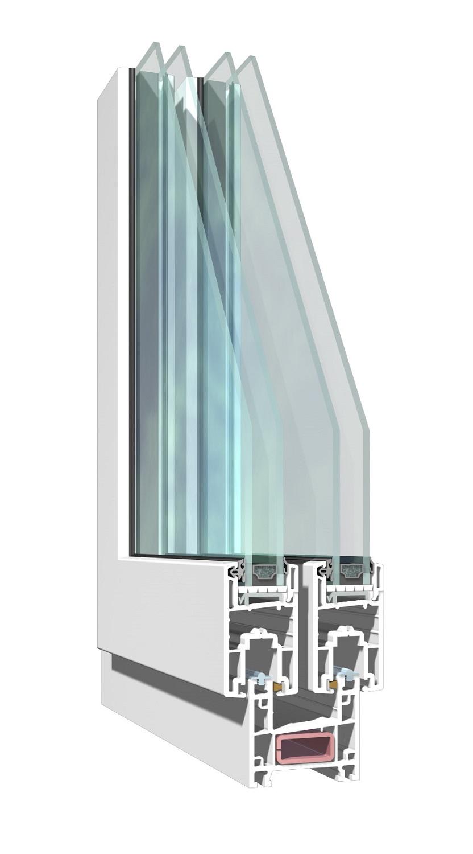 Ventana pvc k mmerling corredera 2 hojas con vidrio for Ventanas de aluminio doble vidrio argentina