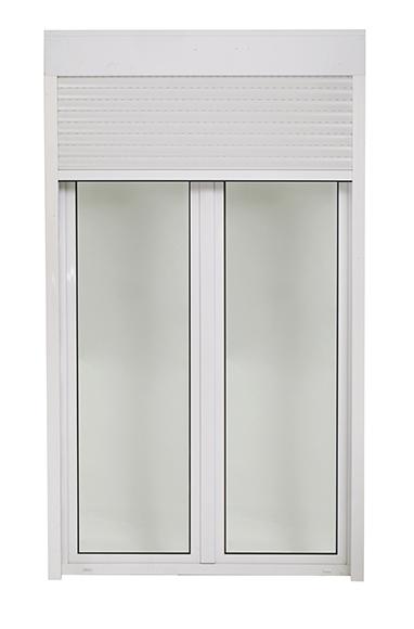 Balconera pvc k mmerling practicable con persiana 2 for Precio ventana pvc con persiana