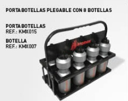 PORTABOTELLAS CON 8 BOTELLAS Kromex