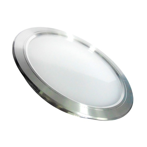 Placa LED Circular SuperSlim 18W Marco Plata