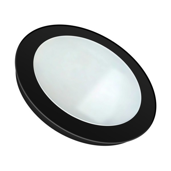 Placa LED Circular SuperSlim 12W Marco Negro