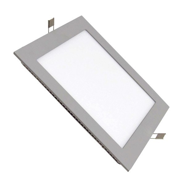 Placa LED Cuadrada SuperSlim 12W Marco Gris