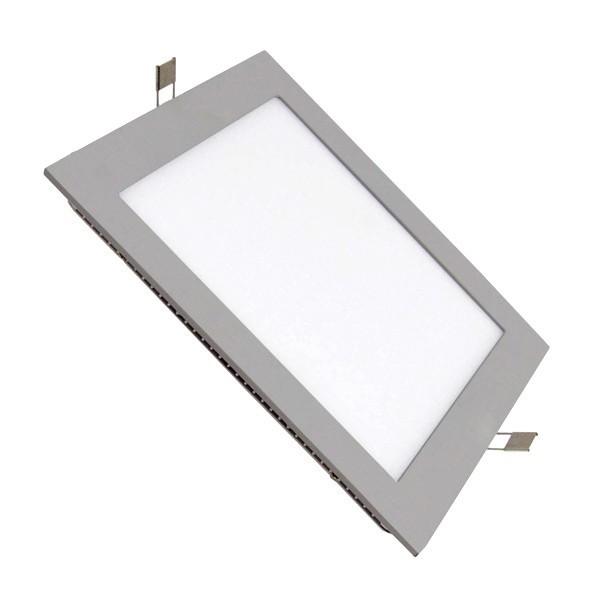 Placa LED Cuadrada SuperSlim 12W Marco Gris