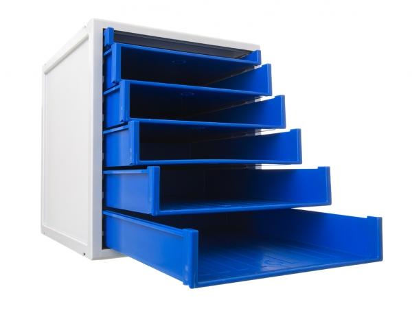 Organizador modular de 5 cajones