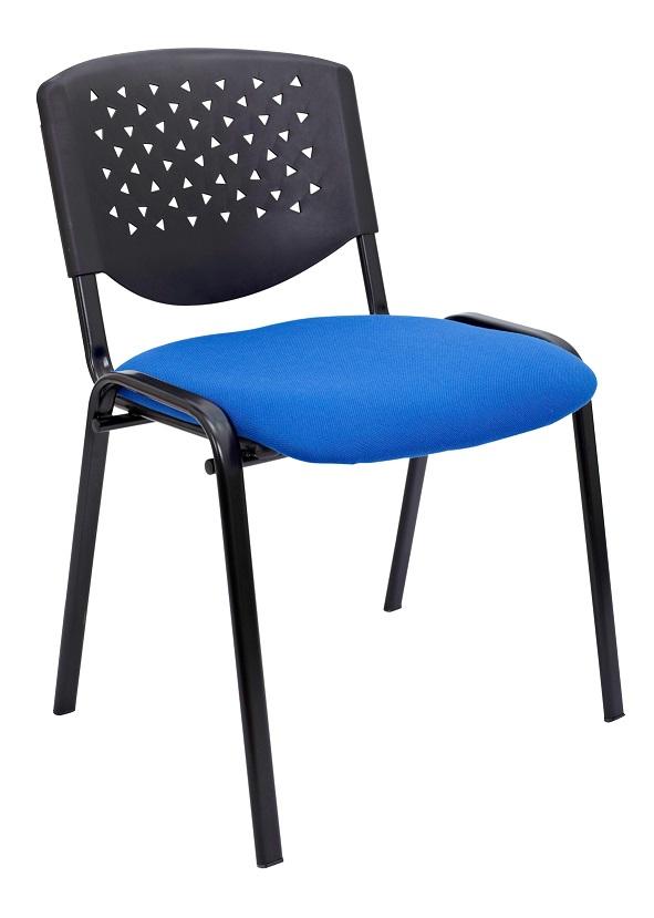 Pack de 4 sillas de confidente de tela sin brazos