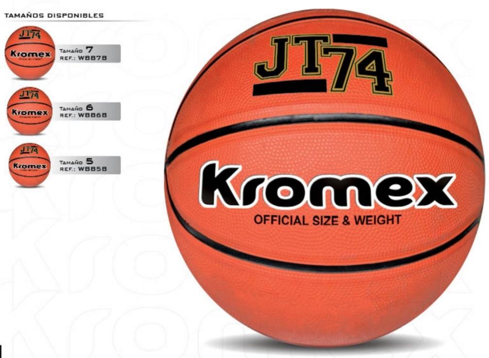 Balón de Baloncesto JT74 tamaño 5, 6 y 7, Kromex
